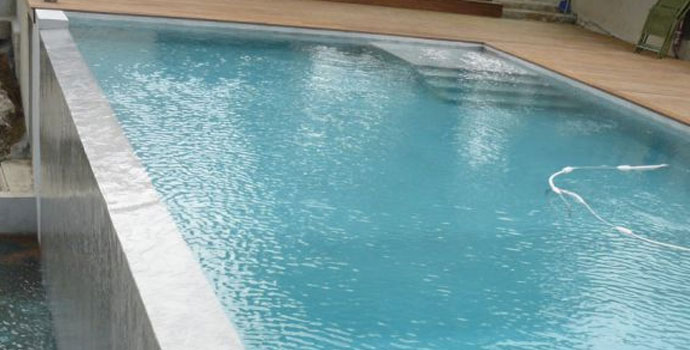 waterproof and protect your swimming pool fountain basin with arcacim pool tanking cementitious system