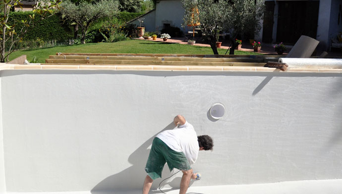 Arcapool Swimming Pool Paint surface Preparation before Arcapool white pool paint