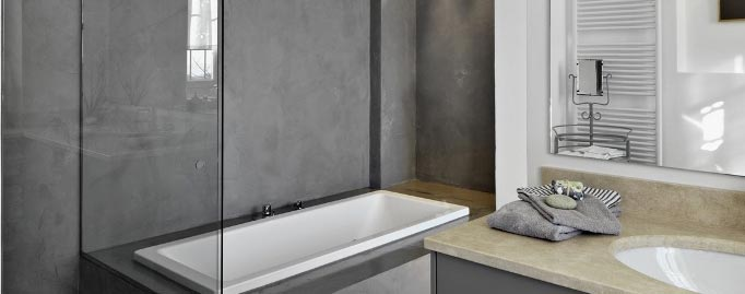 Best Beton Cire Salle De Bain Mercadier  Gallery  Design Trends