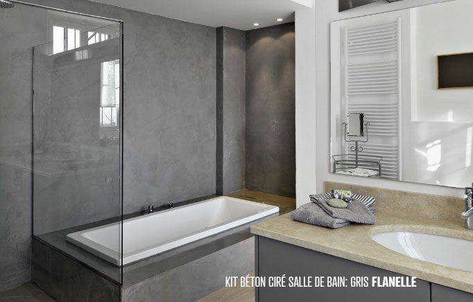 beton cire salle de bain couleur avec des id es int ressantes pour la conception. Black Bedroom Furniture Sets. Home Design Ideas