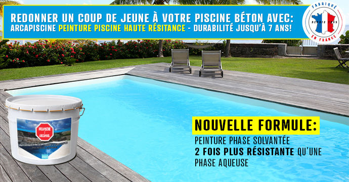 Peinture protection piscine beton ciment d coration bassin for Enduit piscine beton