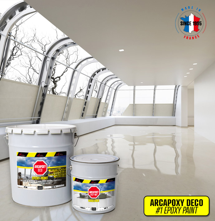 Epoxy Paint Floor And Wall Coating In Basement, Living