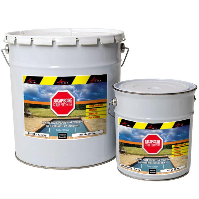 peinture piscine polyuretane haute resistance non jaunissante arcapiscine coque polyester