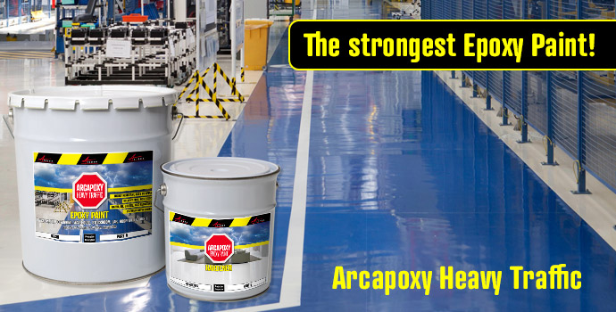 Epoxy Paint Arcapoxy Heavy Traffic for all industrial factory hospital floors