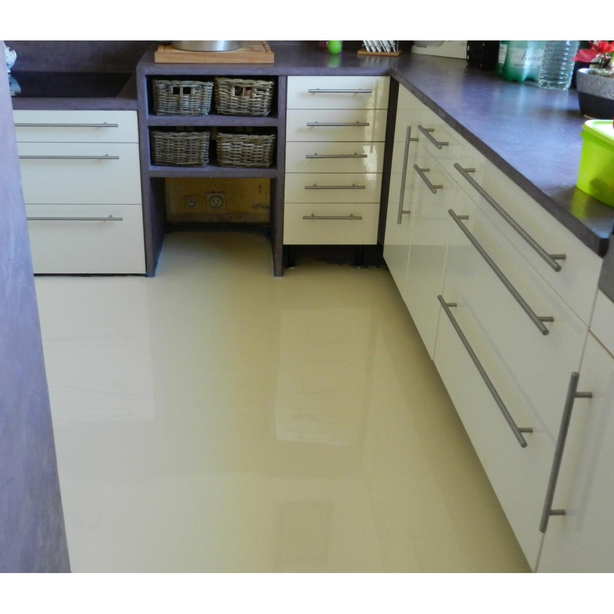 Peinture epoxy rev tement sol bi composant sans solvant for Peinture epoxy salle de bain