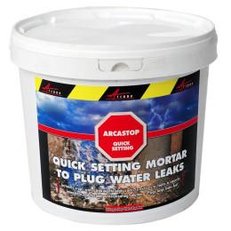 ARCASTOP - Mortier anti infiltrations eau Prise ultra rapide Colmatage Scellement drain Reparation tuyau beton