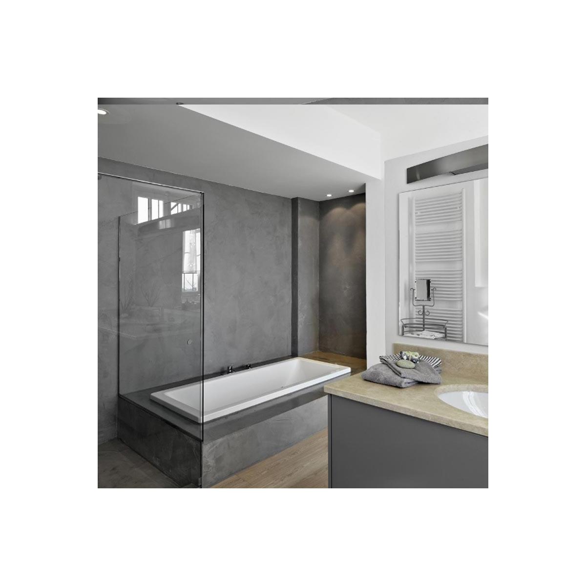 B ton cir salle de bain douche italienne enduit d coratif - Panneau douche italienne ...