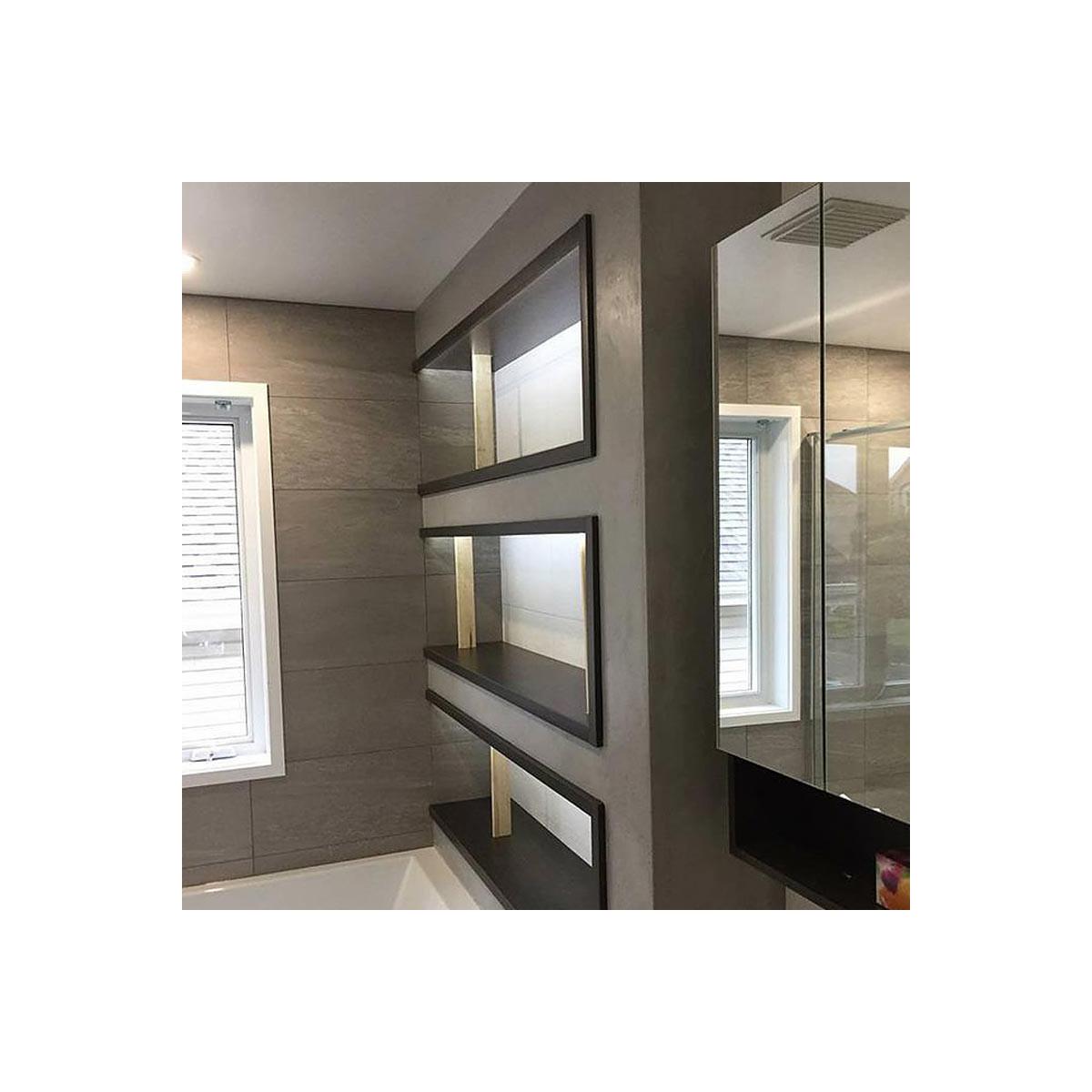 b ton cir salle de bain douche italienne enduit d coratif. Black Bedroom Furniture Sets. Home Design Ideas