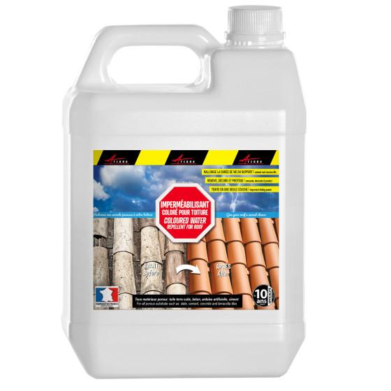 COLORHYDRO - Hydrofuge coloré imperméabilisant toiture tuiles terre cuite, béton, ciment, fibrociment, ardoise hydrofuge olé
