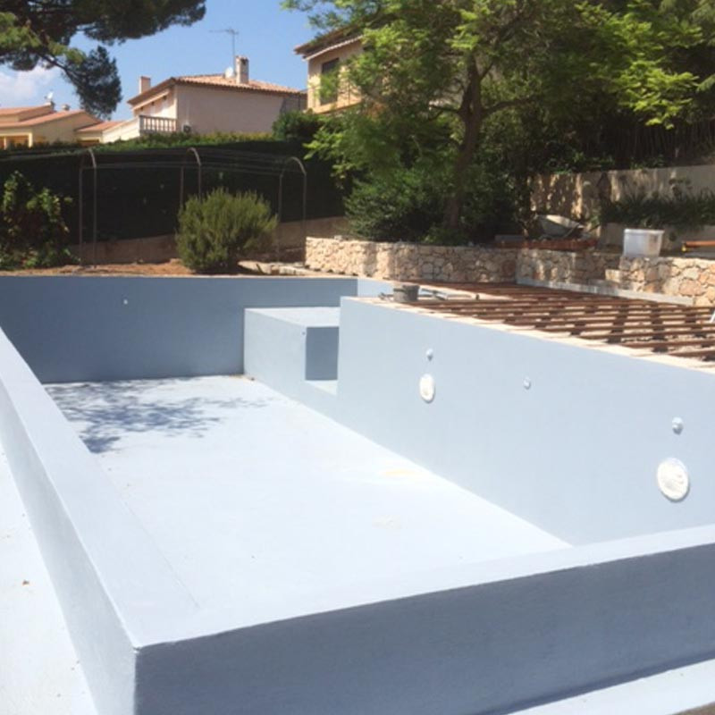 Peinture protection piscine beton ciment d coration bassin for Protection piscine