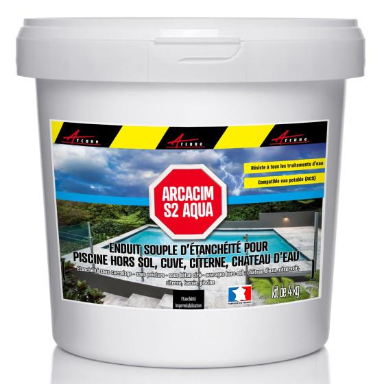 arcacim s2aqua enduit tanch it souple pour piscine hors sol cuve citerne chateau d 39 eau. Black Bedroom Furniture Sets. Home Design Ideas