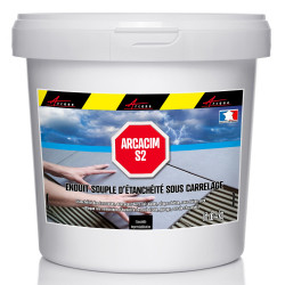 ARCACIM S2 - Enduit d'étanchéité sous carrelage Dalle béton Chape Résistance pression et contre-pression d eau
