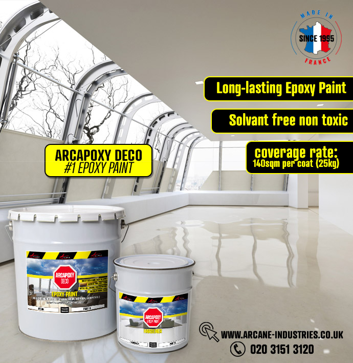 Arcapoxy Epoxy Paint living room floor basement floor kitchen floor