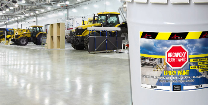 Strongest Epoxy Paint resist to truck passage, for factory floors