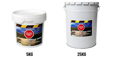 basement swimming pool fountain waterproofing tanking pack sizes