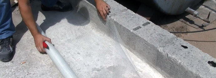 reinforcement fibreglass mesh to fix and repair crack cut the mesh to size