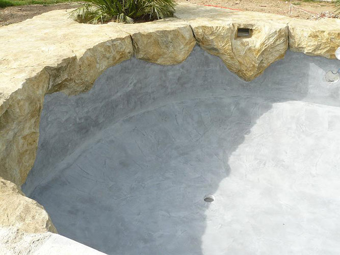 Photos chantiers enduit de cuvelage for Etancheite piscine beton