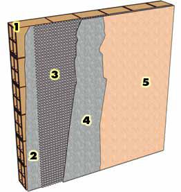 Armature fibre de verre liaison dalle mur for Peinture crepi exterieur parpaing